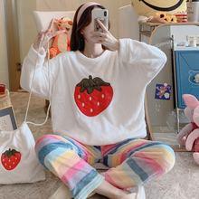 Зимняя новая сумка Пижама женская зимняя плюшевая домашняя одежда