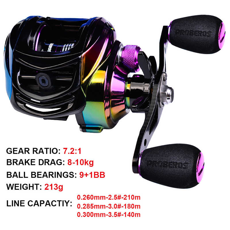 Baitcasting Fishing Reel 18+1BB Ultralight Wheel Max Drag10kg Casting Reel RH//LH