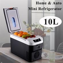 10L Car Home Mini Refrigerator Fridges DC12/24V Freezer Cooler Heater Keep Warm Fresh for Car Home Pinic Camping AC110/220V
