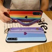 SoCouple Phone Holder Case For Huawei P20 P30 P40 Lite Pro Honor 20 50 10 Pro Mate 20 Pro 30 Lite Nova 5t 3i Wrist Strap Case