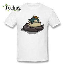 Tonari no Totoro T Shirt Miyazaki Hayao Mans Custom Lazy Day T-shirt Men Funny For Man O-neck T-Shirt