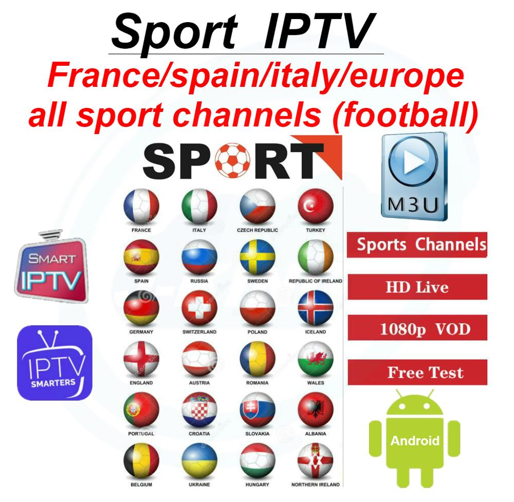 Spain France Italy Germany Portugalstable Iptv Sport Channels Football League 3000+live Channels 5000+vod For M3u Smart Device