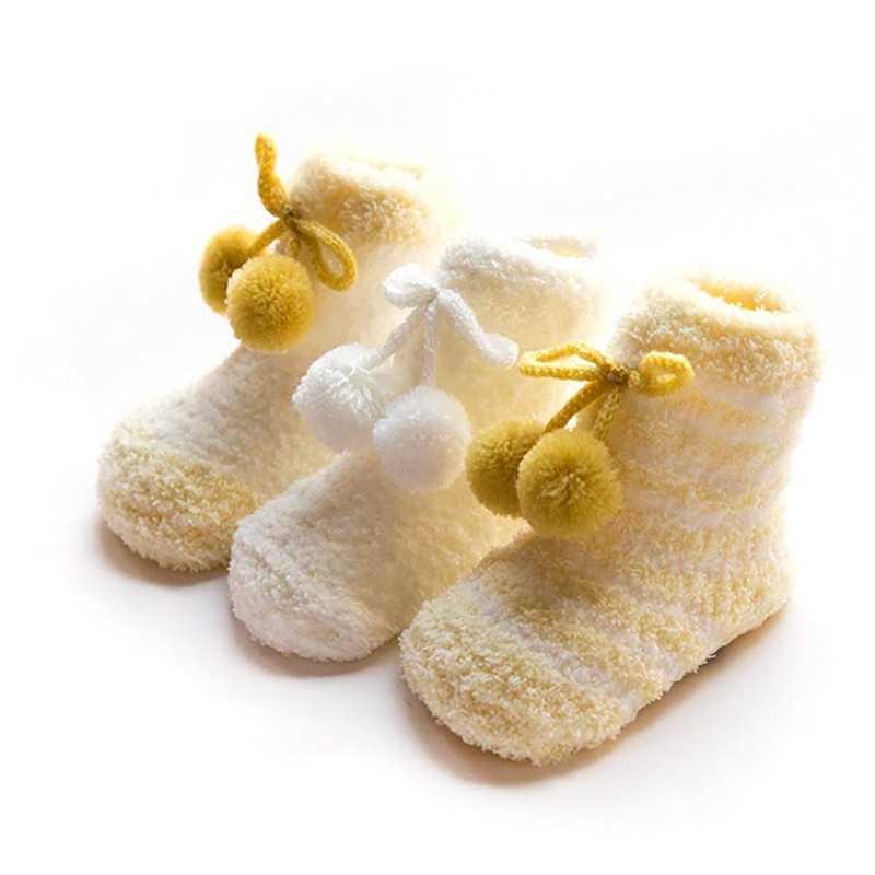 3 çift bebek çorap şerit desen pamuk kış sıcak kat çorap seti bacak ısıtıcısı erkek kız için
