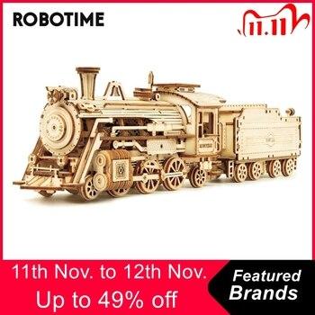 Robotime Rokr 6 Kinds DIY Laser Cutting Mechanical Model Wooden Model Building Kits Assembly Toy Gift for Children
