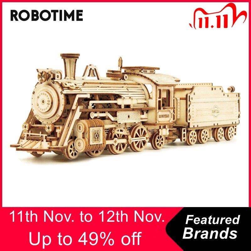 Robotime Rokr-6 tipos de bloques de construcción de madera para niños y adultos, juguete para regalo