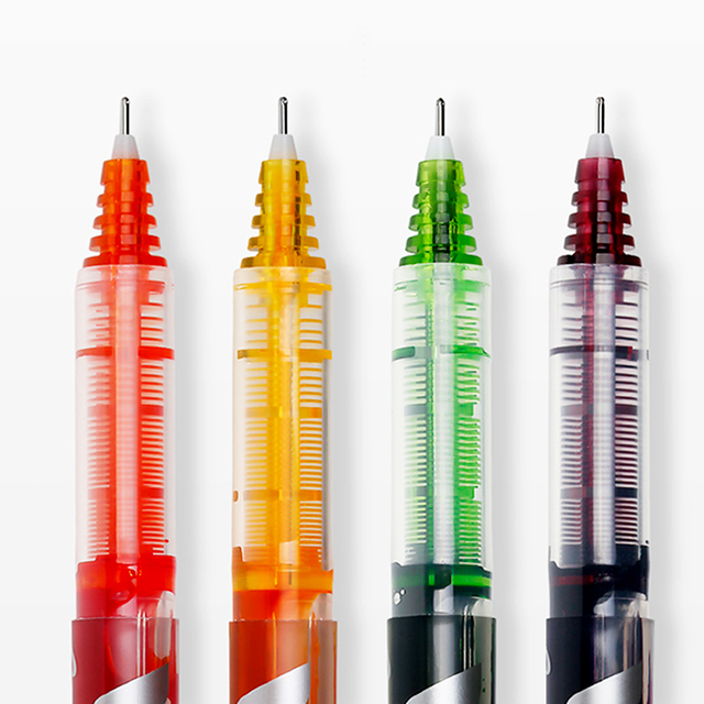 PILOT V5 Full Needle Straight Liquid Ball Pen BX-V5 0.5mm Gel Pen Exam Pen Multicolor Writing Smooth and Smooth Large Capacity 1
