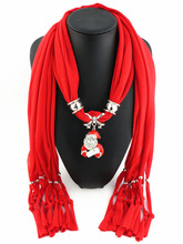 Christmas pendant scarf full diamond color Santa Claus polyester sweat tassel ladies