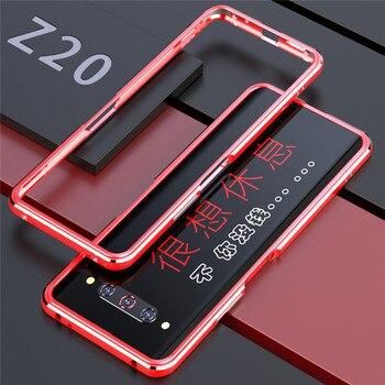 Перейти на Алиэкспресс и купить Металлический каркас Край жесткий защитный чехол для телефона чехол для ZTE Nubia Z20 аксессуары для смартфона противоударный бампер