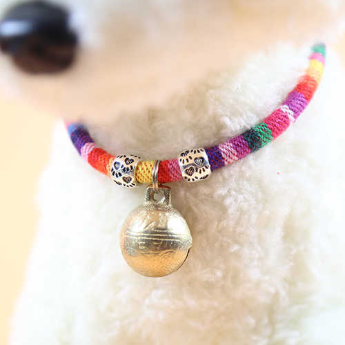 Dog Bell Pet Cats Collar Dog Bell Teddy Bichon Accessories Necklace Small Dogs Bowtie Cat Dog Supplies