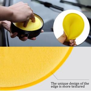 Image 5 - רכב רכב שעווה פולני קצף ספוג ליטוש רפידות יד רך שעווה צהוב ספוג כרית חיץ פירוט טיפול לשטוף ניקוי מגבת