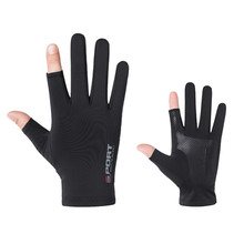 цена на Fishing Gloves Anti-Slip Hunting 2 Fingers Cut Outdoor Camping Fishing Sunscreen Half Finger Men Women Outdoor Sport Gloves