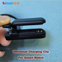 Relógio inteligente 2pin carregador clipe 4mm 3mm universal cabo doca de carregamento para pulseira inteligente usb cabo carregamento original