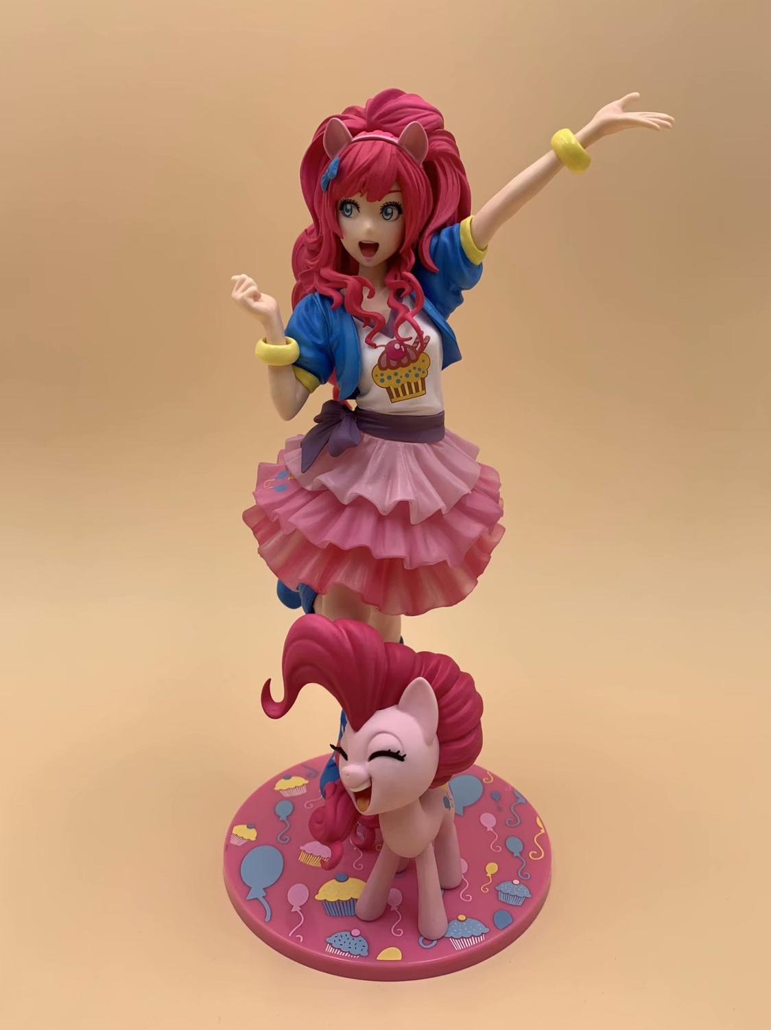 MEW Game My Little Pony Bishoujo Pinkie Pie PVC Figure Model Toy Doll  Collection Model Toys Gift For Children Birthday