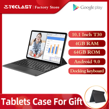 Teclast t30 andriod 9.0 tablet pc 10.1 polegadas 4gb ram 64gb rom 4g telefone câmera dupla gps tipo c, chamada, 8000mah