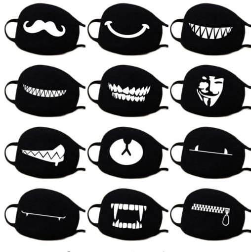1pc Cute Unisex Funny Tooth Dust Mask Lips Fangs Cotton Mask Cartoon Kpop Flu Mask Emotiction Masque Hot 1