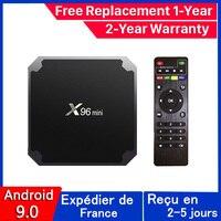 Miglior x96 Mini iptv Box android 9.0 tv Box x96 Amlogic S905W 1G 8G 2G 16G smart ip tv Set Top Box nave dalla francia