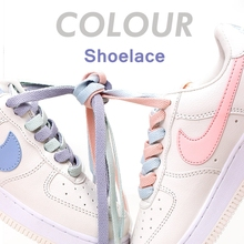 1 pair candy color Shoelace Flats Shoelaces Off Basket femme Sneaker White Shoes Lace For Women and Men Bright shoe laces AF1