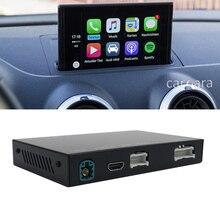 A3 자동차 오디오 화면 개조 와이파이 무선 애플 카플레이 모듈 안드로이드 자동 인터페이스 헤드 유닛 oem 마이크를 사용한 멀티미디어 업그레이드