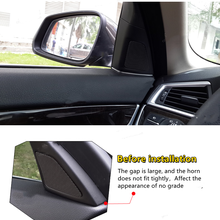 2 pces porta da frente do carro alto-falante capa gap decoração guarnição estilo do carro para bmw série 5 f10 2011-2017 acessórios interiores do carro adesivos