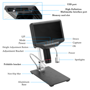 Image 5 - AD407 דיגיטלי מיקרוסקופ עבור טלפון 270X 1080P בהבחנה גבוהה מיקרוסקופ מצלמה 7 אינץ מסך מיקרוסקופ להלחמה