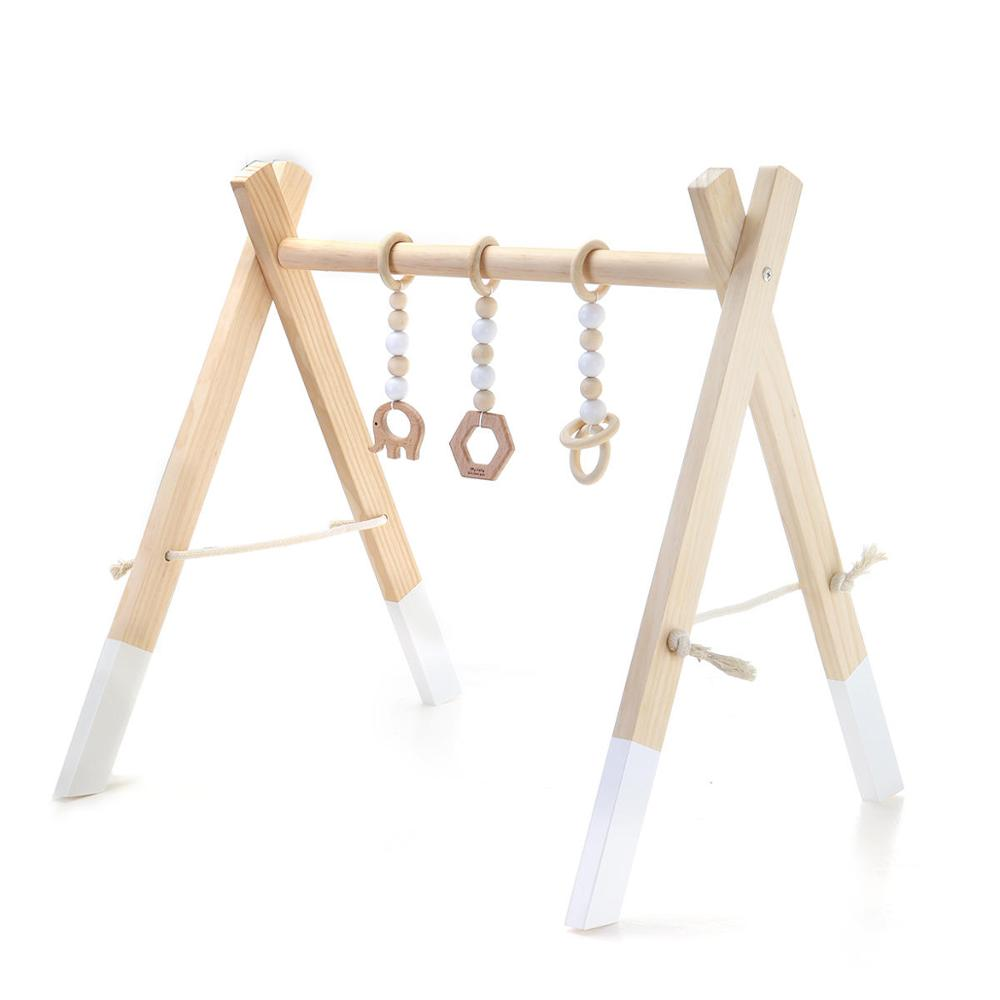 Wooden Baby Activity Gym Play Nursery Sensory Wooden Frame Infant Room Toddler Clothes Rack Gift Kids Room Decor