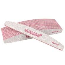 10 шт. пилка для ногтей 80/100 УФ-гель полировщик для ногтей буфер моющийся блок розовый лого пилочки лодка Наждачная доска маникюрный набор инструментов для ногтей