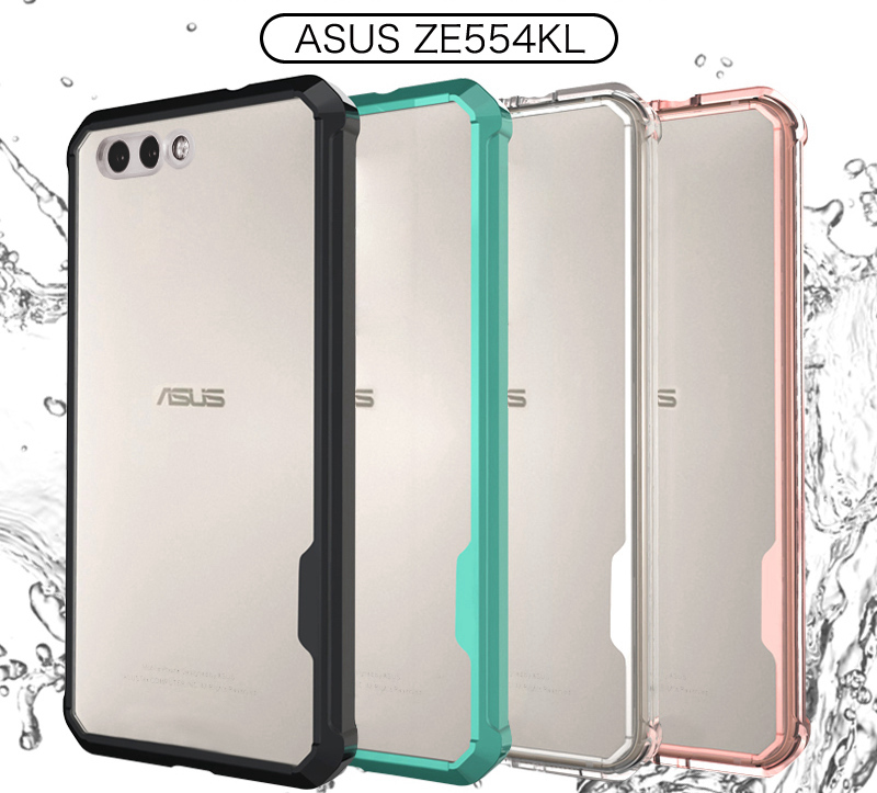 Hybrid Shockproof <font><b>Cover</b></font> Air Cushion Frame Case With Crystal Clear Hard Back Shell <font><b>For</b></font> <font><b>Asus</b></font> <font><b>Zenfone</b></font> 4 <font><b>ZE554KL</b></font> 5.5inch Fundas Capa image