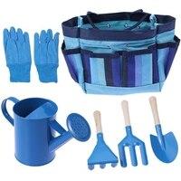 AFBC Kids Children Gardening Tools With Garden Gloves And Garden Tote Outdoor Children'S Tool Set(Blue)