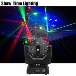 Chegada nova Ilimitado Girar 3 EM 1 Movendo A Cabeça Dj Disco Laser Levou Strobe Luz Efeito Bom Uso Para A Festa KTV Night Club Bar