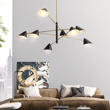Modern Metal Chandelier Lighting For Living Room Retro Loft Hanging Light Vintage Chandelier Fixture Suspension Lamp/Lights