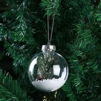 12 stücke Kunststoff Klar Transparent Ball 6/8/10CM Öffnen Flitter Weihnachten Baum Ornamente Geschenk Anhänger DIY dekoration Kugeln