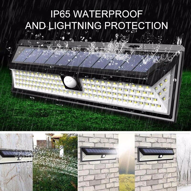 180 COB LED Solar Light Outdoor Solar Lamp PIR Motion Sensor Wall Light Waterproof Solar Powered Sunlight for Garden Decoration