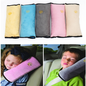 Kids Car Safety Pillows Head Pillow Auto Safety Seat Belt Shoulder Cushion Pad Neck Protection for children headrest decoration image