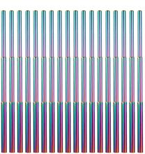 50pcs/100pcs Wholesale Metal Colorful Telescopic Straw Three-Section Stainless Steel Collapsible Straw for 30/20oz Tumbler Cups