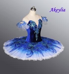 Image 3 - Azul real pássaro yagp profissional ballet competiton tutu saia feminina rosa clássico panqueca tutu traje vestido