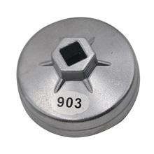 Zamiennik dla Mercedes Benz 74mm 14 flet aluminiowy klucz do filtra oleju gniazdo narzędzie do usuwania akcesoriów samochodowych tanie tanio BoFaCarry CN (pochodzenie) Metal 8 * 4 * 8cm 7 4 cm Universal Car oil filter remove tool