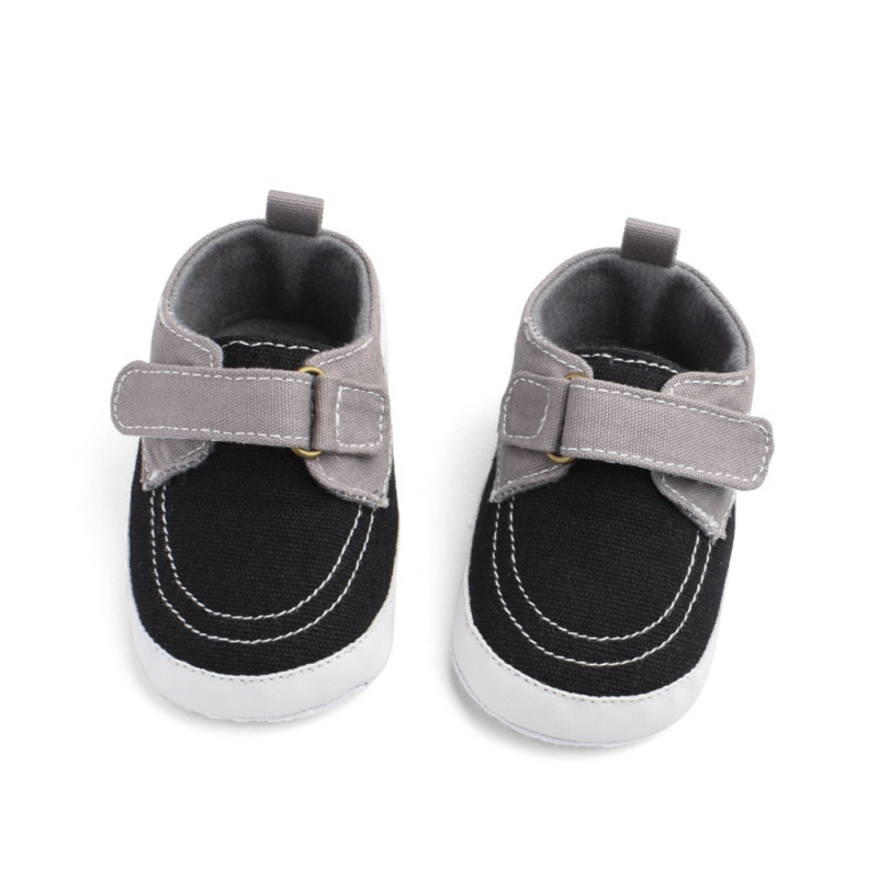 Hot Sales Fashion Baby Boys Anti-Slip Sneakers Toddler Soft Soled Casual Canvas Shoes For 0-18 Month Babe