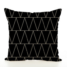 Geometry Pattern Cushion Set Concise Flax Pillow cover Case Modern Wind decorative pillows