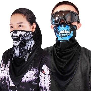 Full Skull Ghost Motorcycle Mask Balaclava Shield Cagoule Visage Face Black Masks Bivakmuts Masque Moto Passamontagna Men Biker 1