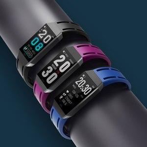 Image 2 - Металлический Чехол, смарт браслет, фитнес трекер, часы, мониторинг сердечного ритма, артериального давления, шагомер, умный спортивный браслет