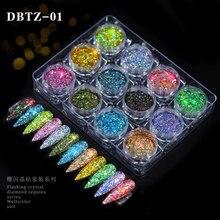 Chrome Pigment Flakes-Powder Nail-Glitter Diy-Decorations Sequins Holo Sparkly 12-Colors