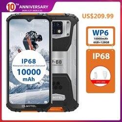 OUKITEL WP6 смартфон с 6,3-дюймовым дисплеем, ОЗУ 6 ГБ, ПЗУ 128 ГБ, 10000 мАч, 48 МП