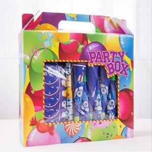 Image 4 - 90 piezas Anna Elsa Snow Queen juego de vajilla temática conjunto de Mantel Total + pajita fiesta para chico suministros de decoración