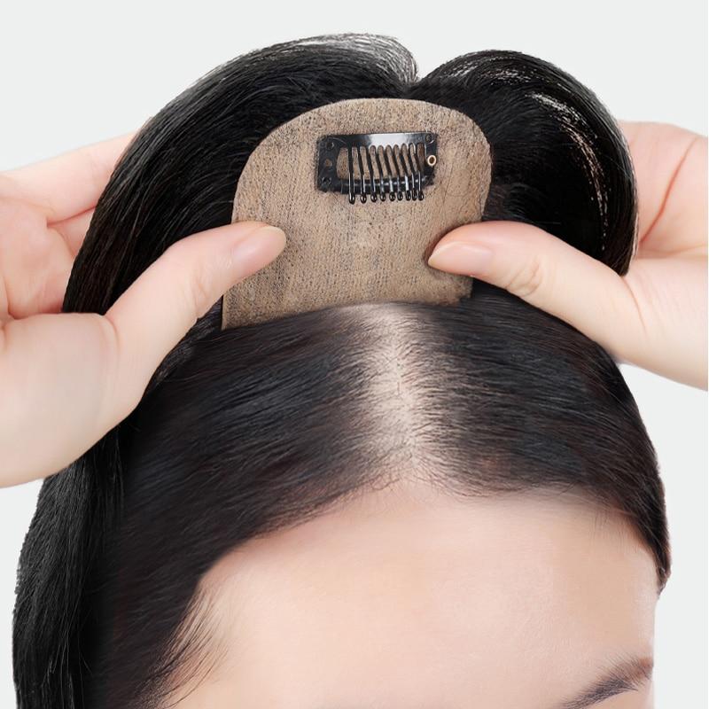 Топ для волос AOSI, прямой Шелковый парик с челкой, синтетический натуральный искусственный парик для наращивания волос, накладной парик для ...