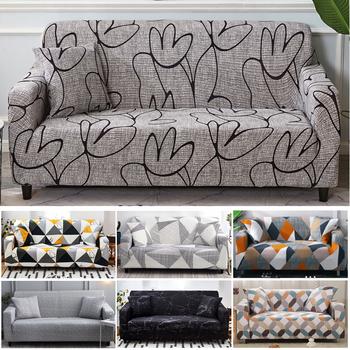 Elastyczny pokrowiec na sofę pokrowce elastyczny pokrowiec na kanapę All-inclusive dla różnych kształtów Sofa Loveseat krzesło w stylu L pokrowiec na sofę tanie i dobre opinie S-EMIGA Sofa Cover Printed Modern Floral Podwójne siedzenia kanapa Polyester Cotton