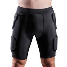 Взрослые Мужчины Анти-шок мягкие Компрессионные шорты хип и защита для бедер для футбола Пейнтбол Баскетбол Катание на коньках хоккей