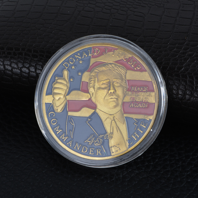 Donald J Trump 2020 Keep America Great Commander In Chief Silver Challenge Coin