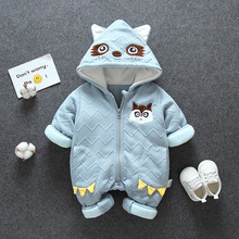 0-3Y Toddler Baby Boys Girls Snow Wear Coat Clothing  Winter Warm Hooded Overalls Newborn Infant Thicken Jumpsuit Kids Clothes