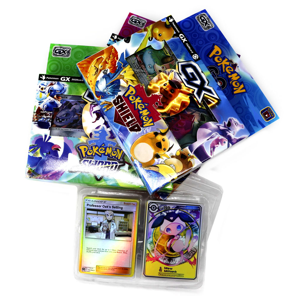New Pokemon Card Board Game Sword Shield Collection Shining Box Trainer GX Flash Cards Energy Tag Team 56pcs Toys For Kids