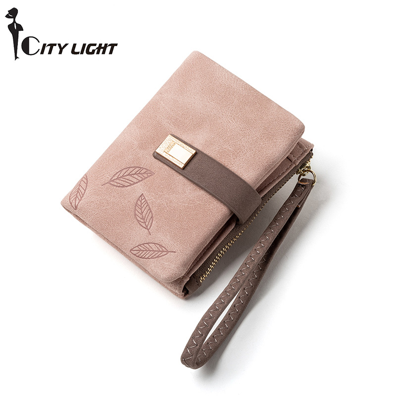 Brand Small Wallets For Women Card Holder Zipper Hasp Coin Purses Ladies Short Clutch Bag Wristband Female Wallet High Quality